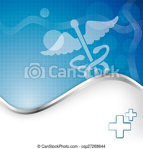 Abstract medical background with caduceus medical symbol.  - csp27268644