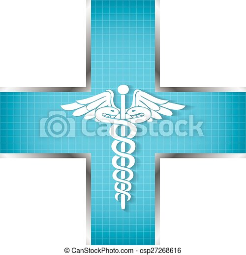 Abstract medical background with caduceus medical symbol.  - csp27268616