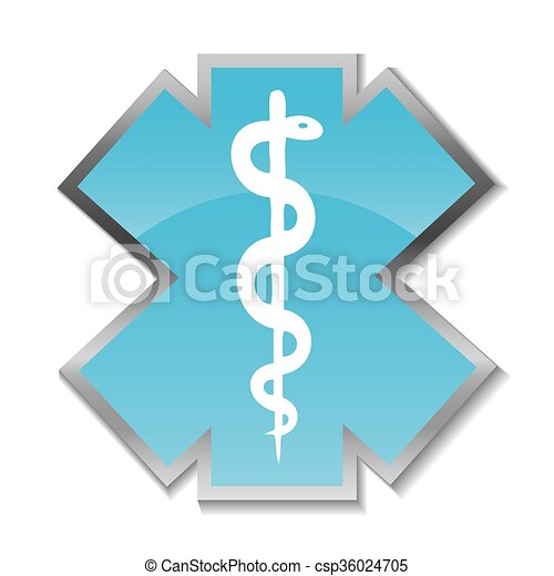 Abstract medical background with caduceus medical symbol.  - csp36024705