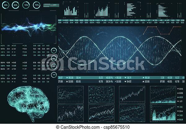 Abstract medical interface - csp85675510