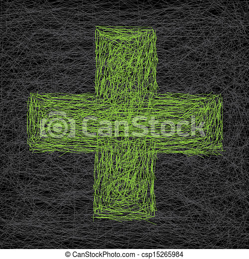 Abstract medical scratched background - csp15265984