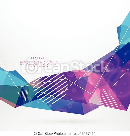 abstract memphis style wave background - csp46467411