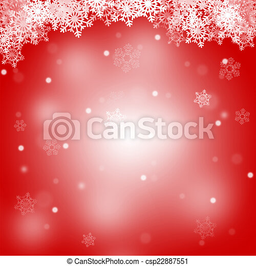 Abstract Merry Christmas red background - csp22887551