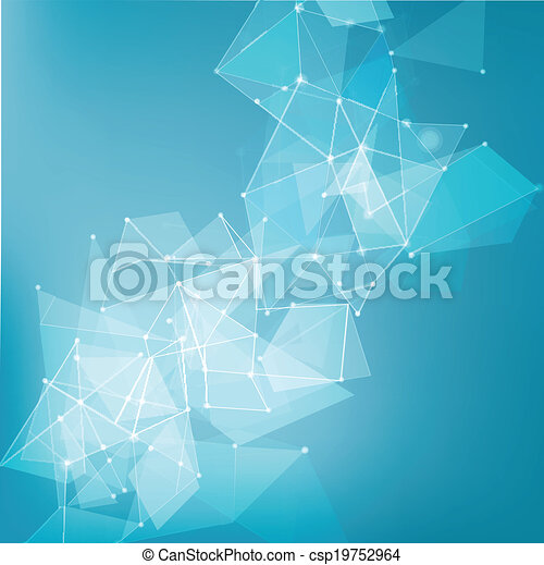 abstract mesh network background for technology, business - csp19752964