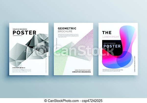 Abstract Minimal Brochure Design Template Size A In Lines