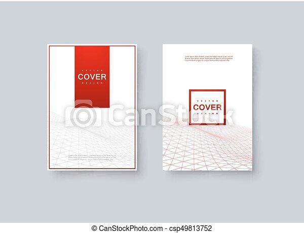 Abstract minimal cover design. vector creative illustration. mockup ...