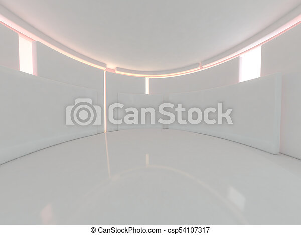 Abstract modern architecture background. 3D rendering - csp54107317