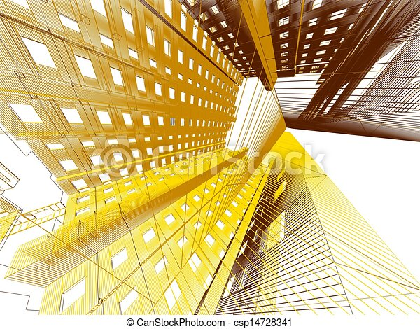 abstract modern architecture background - csp14728341