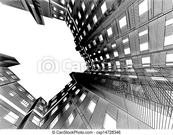 abstract modern architecture background - csp14728346