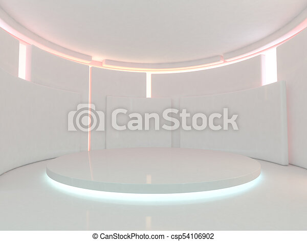 Abstract modern architecture background. 3D rendering - csp54106902