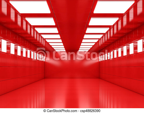 Abstract modern architecture background, empty open space interi - csp48826390