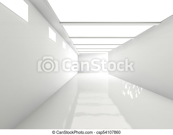 Abstract modern architecture background. 3D rendering - csp54107860