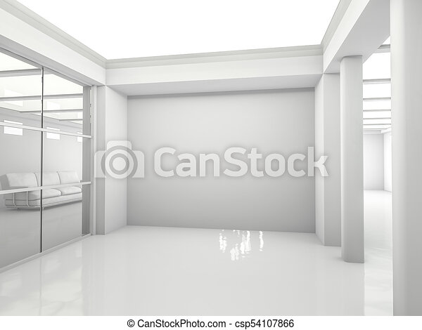 Abstract modern architecture background. 3D rendering - csp54107866