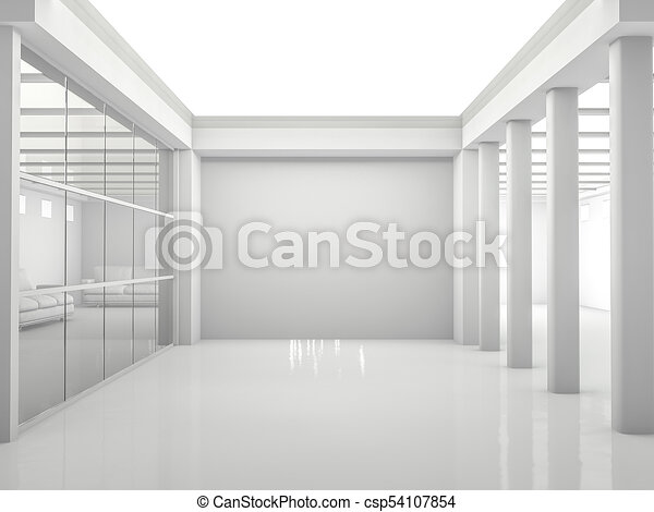 Abstract modern architecture background. 3D rendering - csp54107854