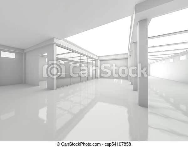 Abstract modern architecture background. 3D rendering - csp54107858