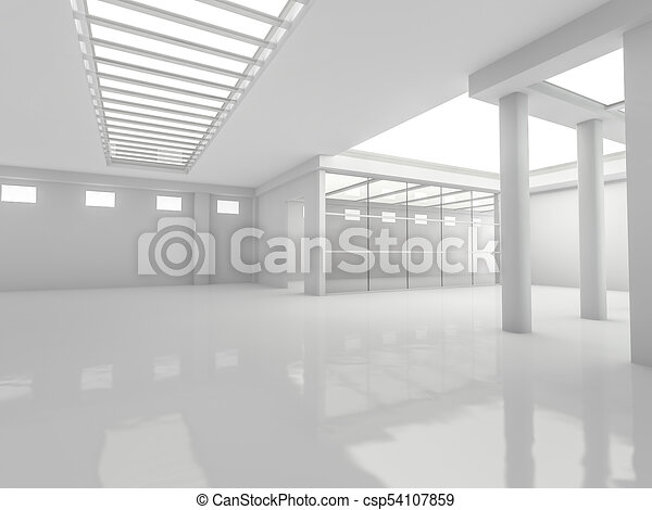 Abstract modern architecture background. 3D rendering - csp54107859