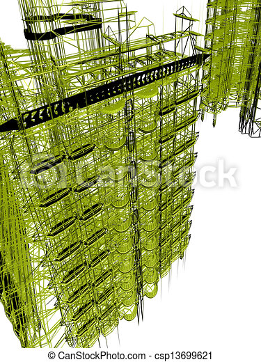 abstract modern architecture  - csp13699621