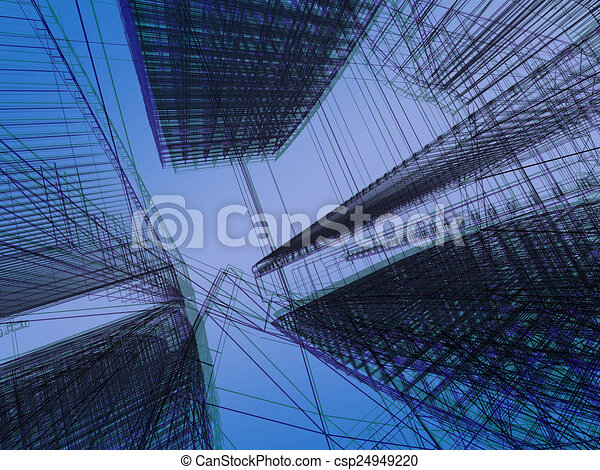 abstract modern architecture  - csp24949220