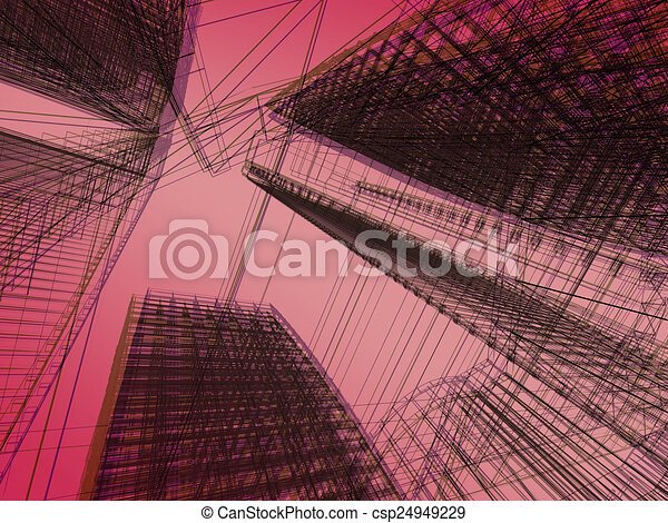 abstract modern architecture  - csp24949229