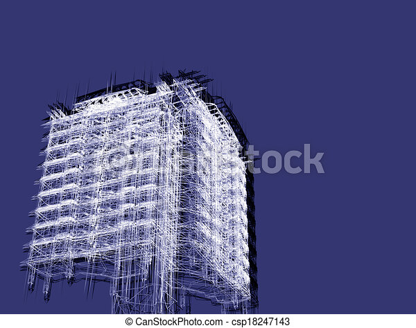 abstract modern architecture  - csp18247143