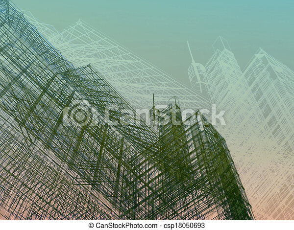 abstract modern architecture   - csp18050693