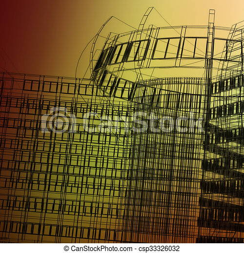 abstract modern architecture - csp33326032