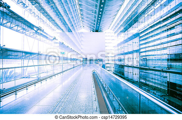 Abstract modern architecture in blue - csp14729395