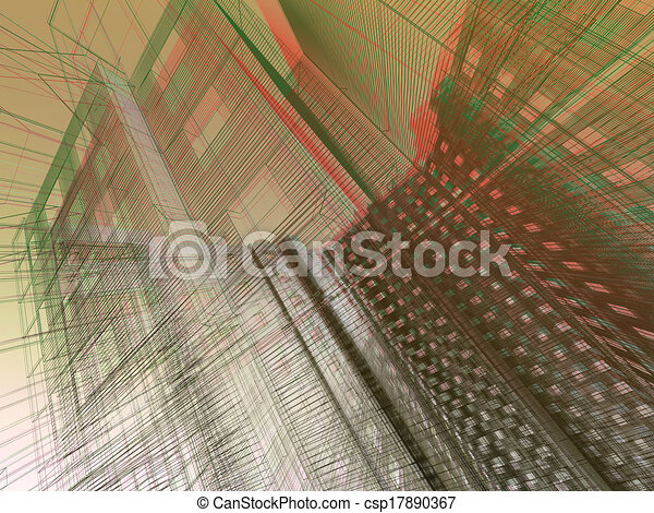 abstract modern architecture   - csp17890367