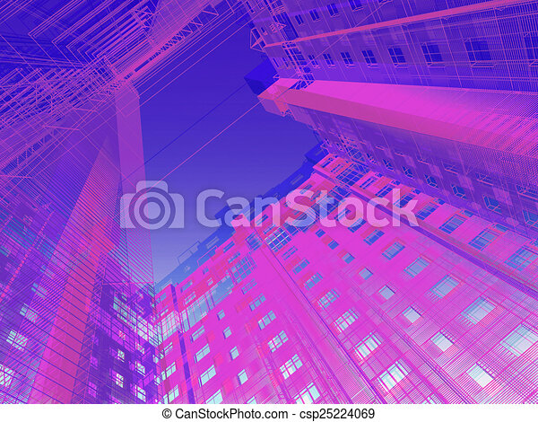 abstract modern architecture - csp25224069