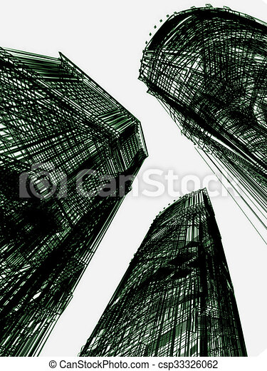 abstract modern architecture - csp33326062