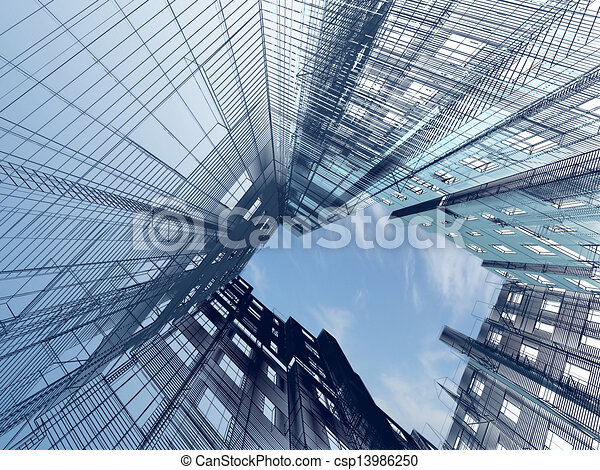 abstract modern architecture - csp13986250