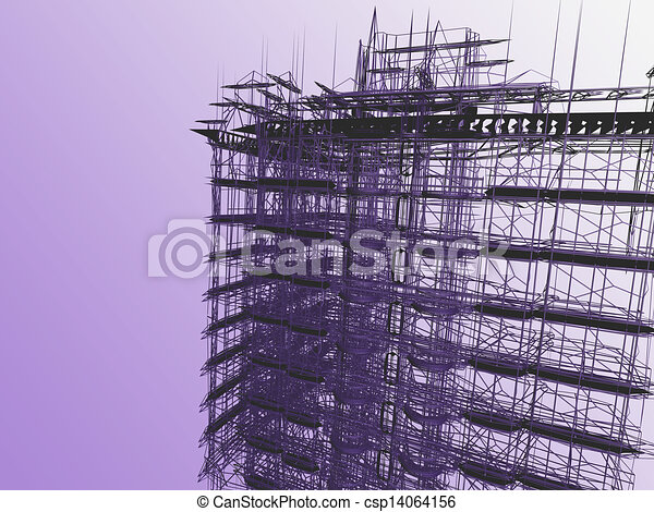 abstract modern architecture  - csp14064156