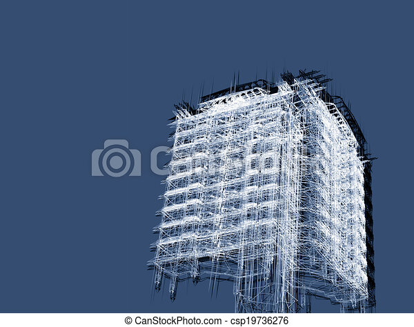 abstract modern architecture   - csp19736276