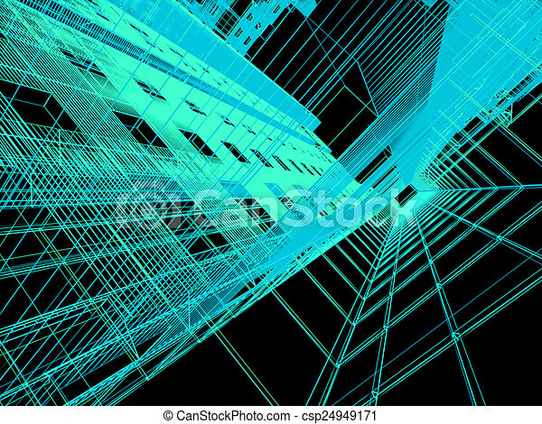abstract modern architecture - csp24949171