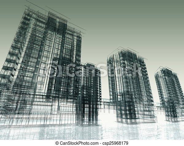 Abstract Modern Architecture  - csp25968179