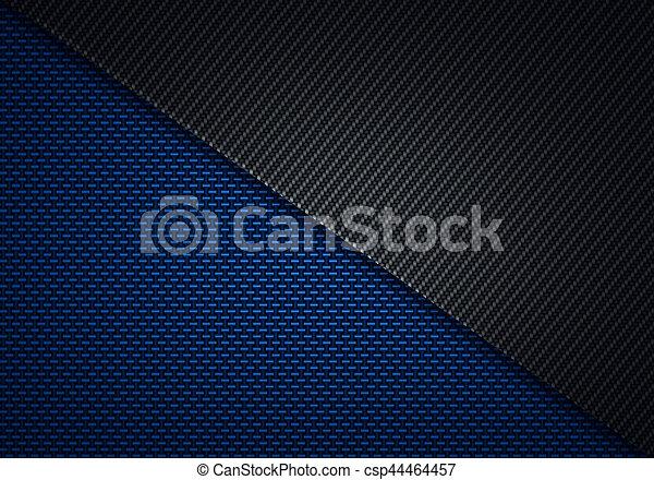 Abstract Modern Blue Black Carbon Fiber Textured Material Design