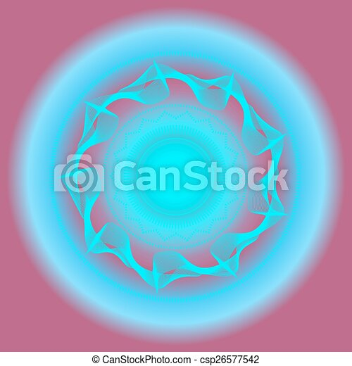 Abstract, modern, blue, violet background, backdrop with lights - csp26577542