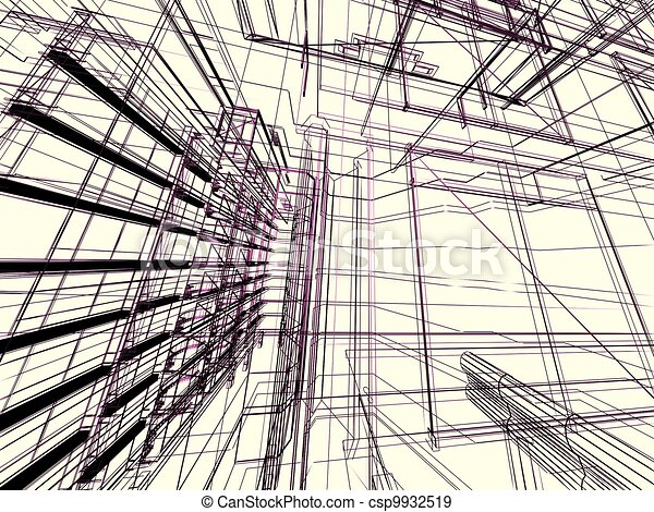 Abstract modern building - csp9932519