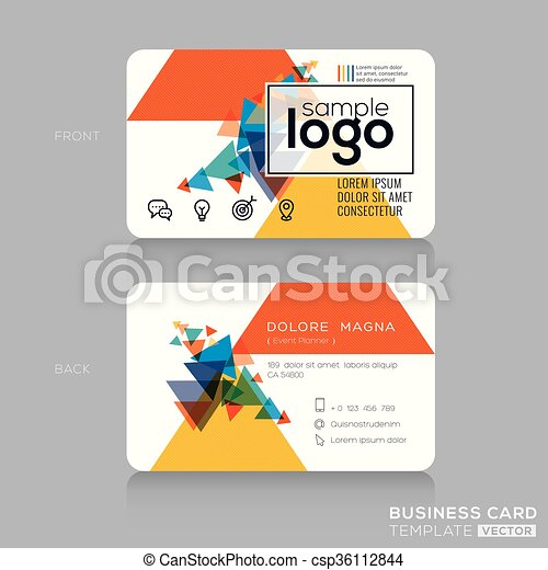 Abstract modern business card template abstract modern eps abstract modern business card template csp36112844 reheart Gallery