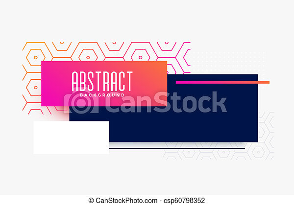 abstract modern colorful banner design - csp60798352