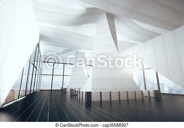 Abstract modern interior, 3D Render - csp35588307