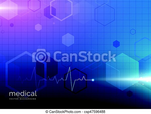 abstract molecule medical healthcare or pharmacy blue background - csp47596488