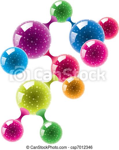 abstract molecule or microbe  - csp7012346