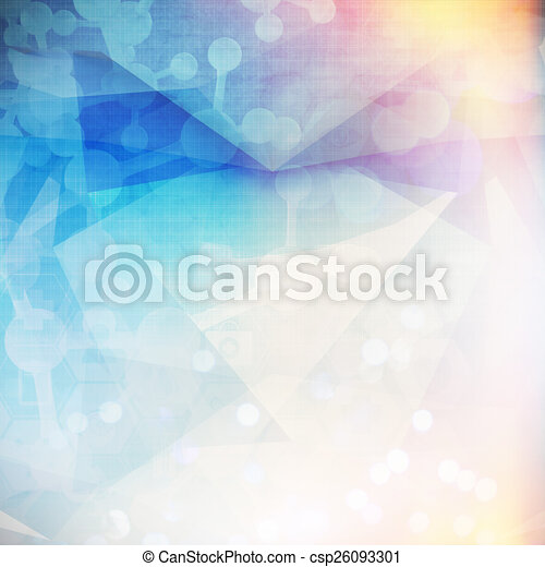 Abstract molecules low poly  medical background - csp26093301