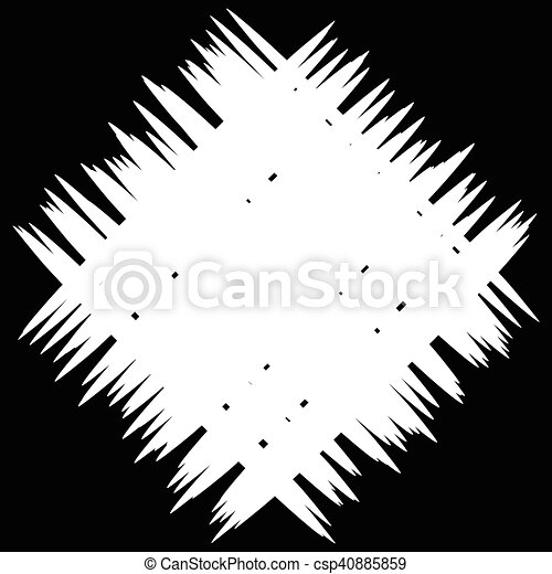 Abstract monochrome patch with random and irregular lines - csp40885859