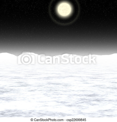 Abstract Moon landscape generated background - csp22699845