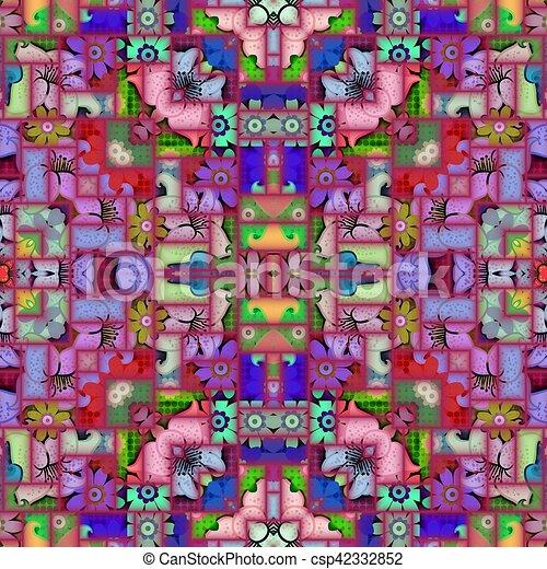 Abstract Mosaic Tile - csp42332852