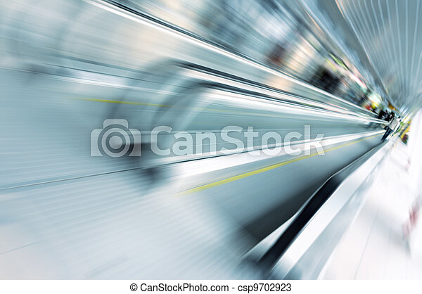 Abstract motion of escalator in gla - csp9702923