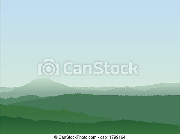 Abstract Mountain Landscape - csp11799164
