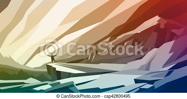 Abstract mountain landscape - csp42800495